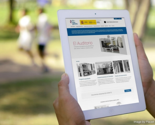 Miniatura de la vista de la web del Garcia Lorca en un una tablet