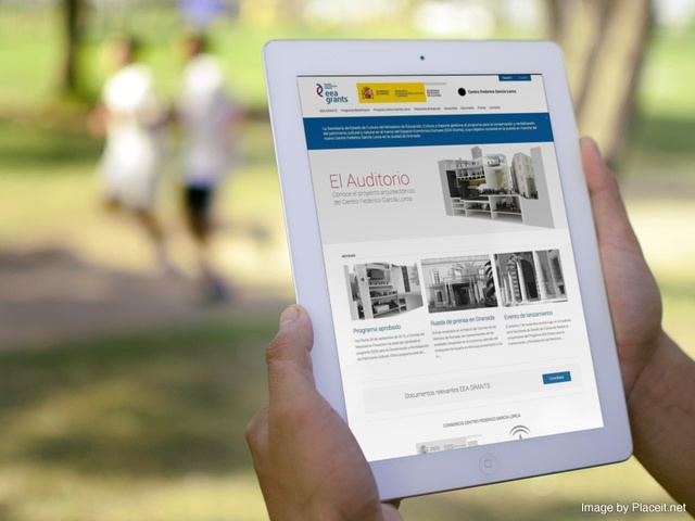 Vista de la web del Garcia Lorca en un una tablet