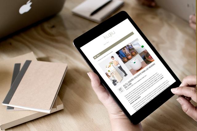 web de kupu en una tablet