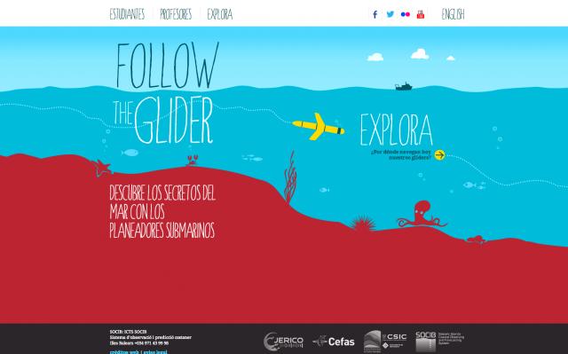 Web follow the glider