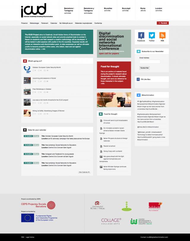 sección de la web de icud