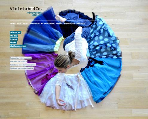Miniatura del inicio de la web Violeta & Co