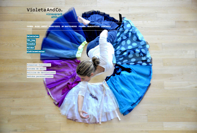 Inicio web Violeta & Co