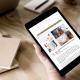 Miniatura de la web de Kupu en una tablet
