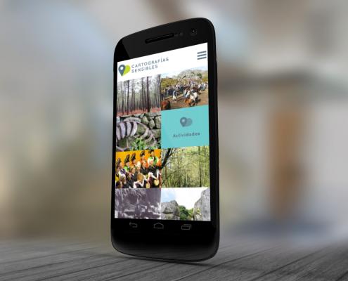 Miniatura del inicio de la pagina web de la pagina cartografias sensibles en móvil