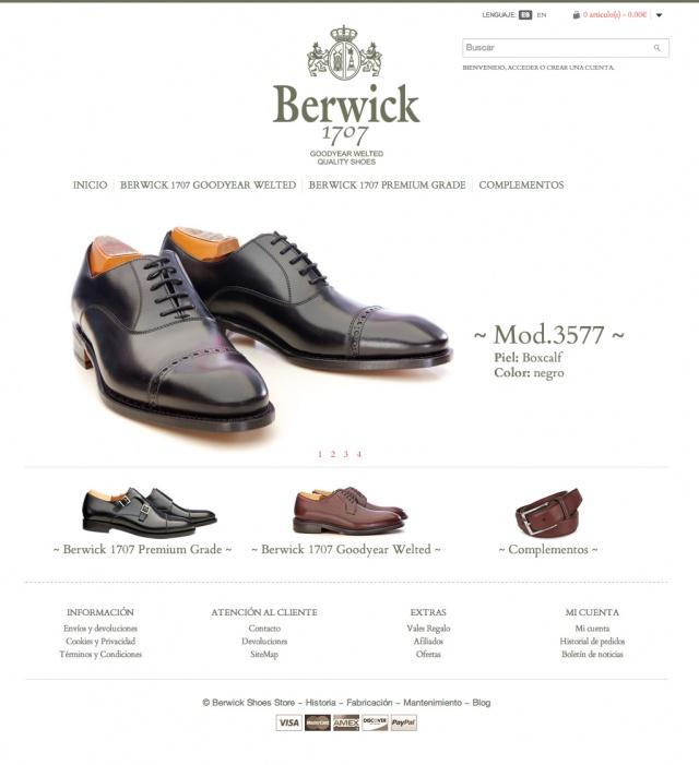 inicio de la web de berwick 1707