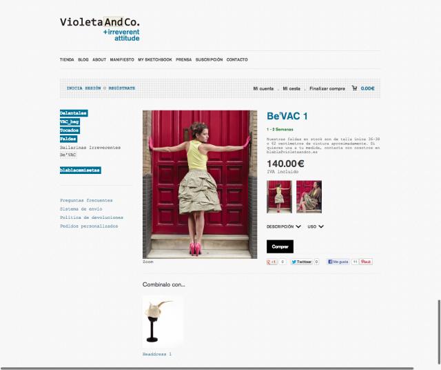 Articulo de la tienda web de Violeta & Co