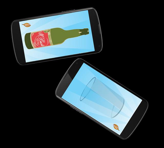 2 móviles con el juego el mayador
