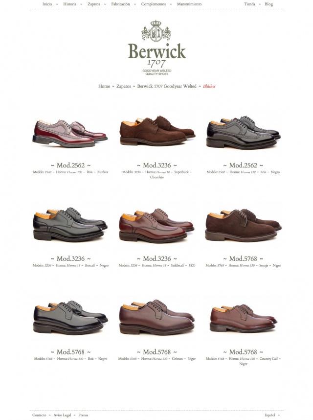 seleccion de zapatos de berwick 1707