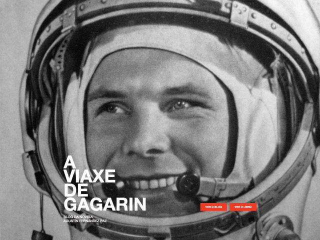 Inicio web a viaxe de Gagarin