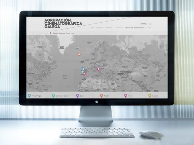 web de la Agrupacion Cinematografica Galega vista en ordenador