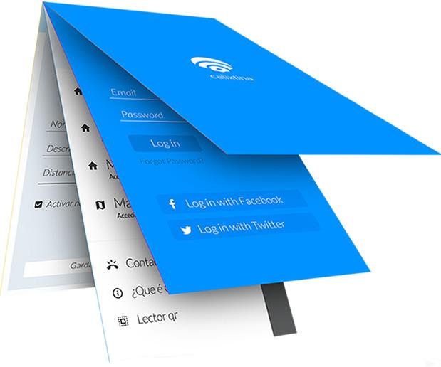 4 vistas de la app Calixtina