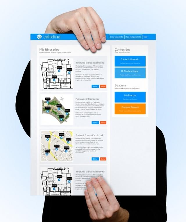 vista ampliada de la app Calixtina