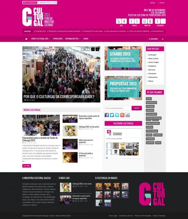 pagina de inicio de culturgal