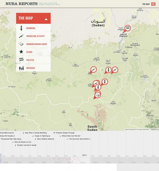 Mapa de la web de nuba reports