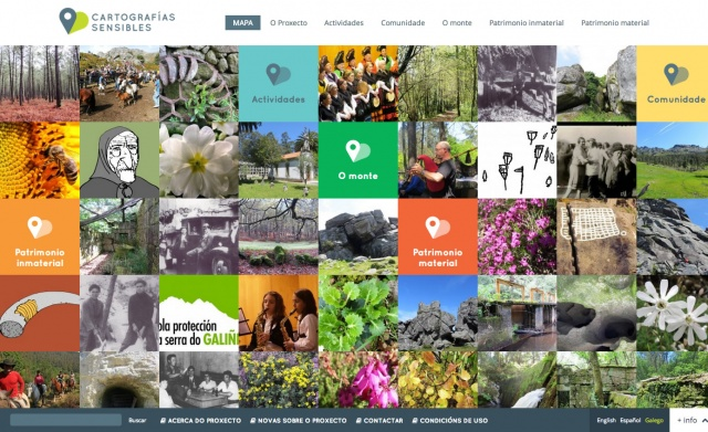 Inicio de la pagina web de la pagina cartografias sensibles