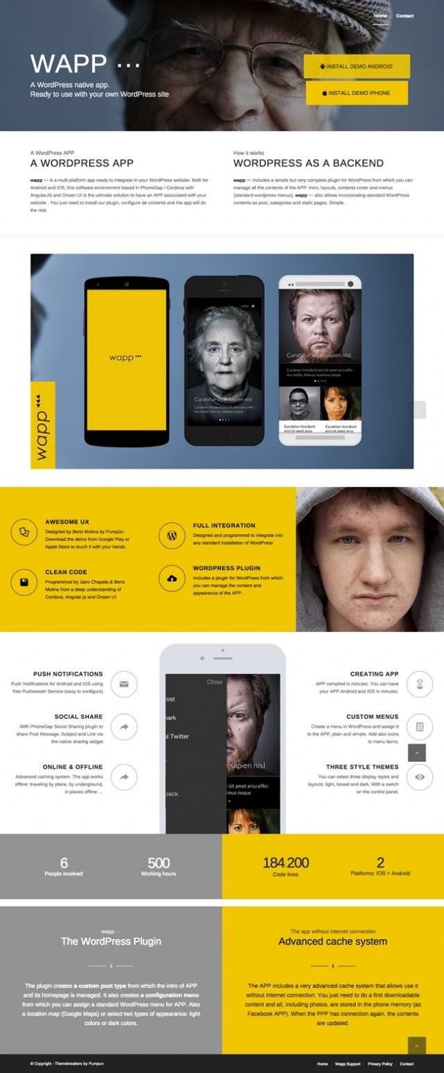 pagina sobre la app wapp