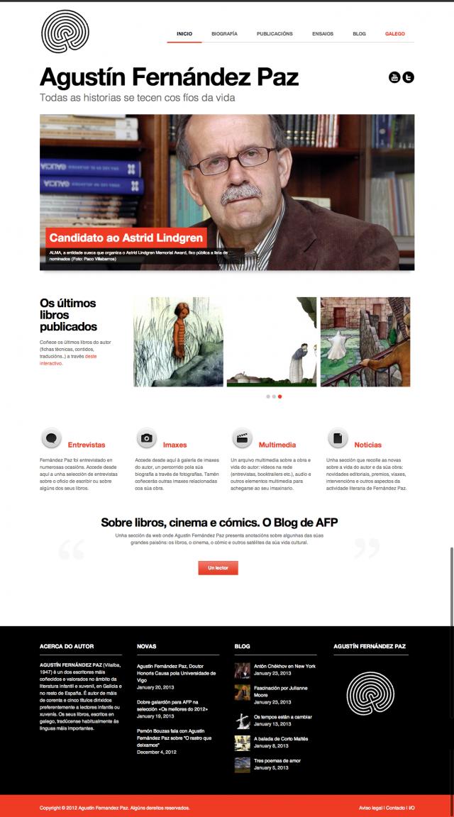 Inicio de la web de Agustin Fernandez