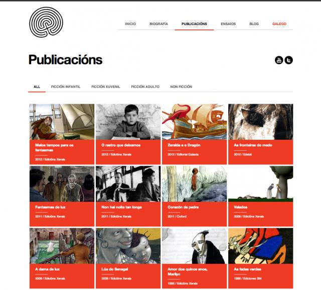 Otra seccion de la web de Agustin Fernandez