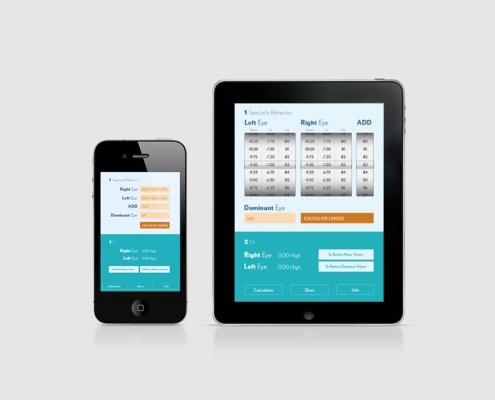 Miniatura de la vista de la app de Bausch en tablet y móvil