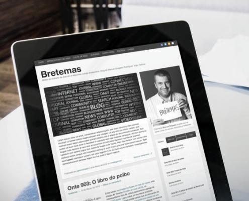 Miniatura de la web bretemas en tablet