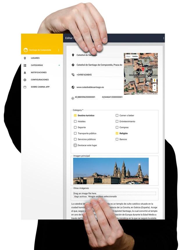 vista ampliada de la app de Castelo de Soutomaior