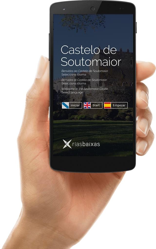Vista de la app de Castelo de Soutomaior