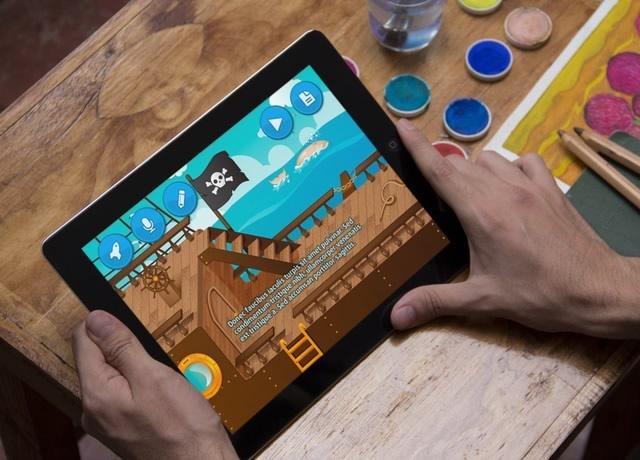 Creappcuentos visto en tablet
