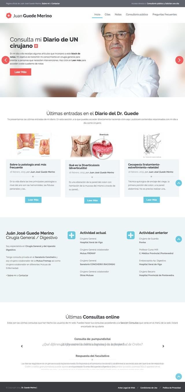 pagina inicial de la web del doctor Guede Merino