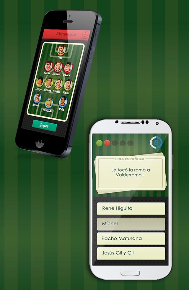 2 vistas en móvil de la aplicación de el puto amo de la liga