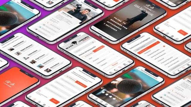 varias vistas de la app ga guia audio visual
