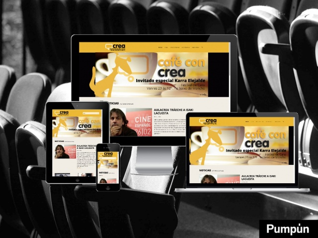 Pagina de inicio de la web galiciacrea en distintos dispositivos