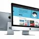 vista de la web de campana editorial en un ordenador en miniatura