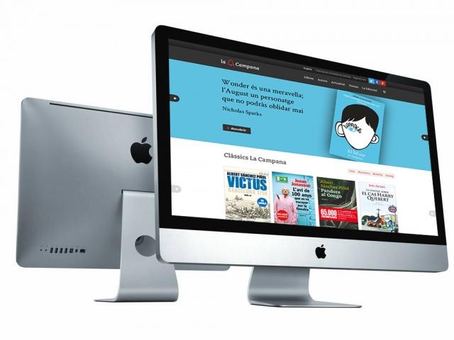vista de la web de campana editorial en un ordenador