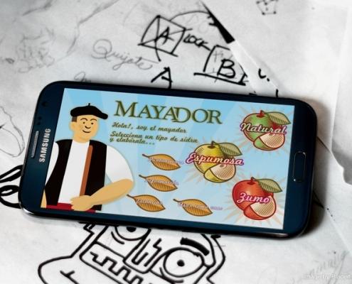 pantalla de inicio de el juego el mayador visto en movil