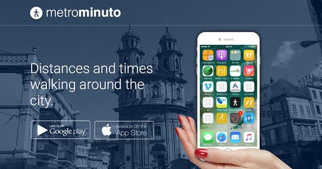 Indicativo de disponibilidad de la app Metrominuto en ios y android