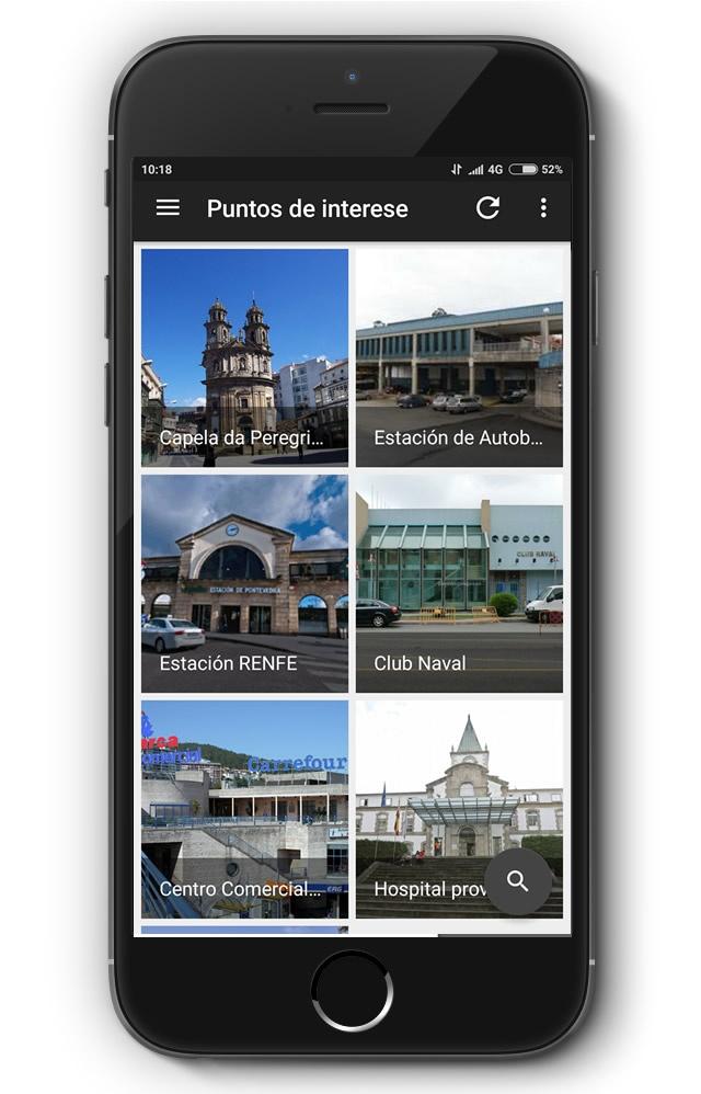 vista de la app Metrominuto en movil