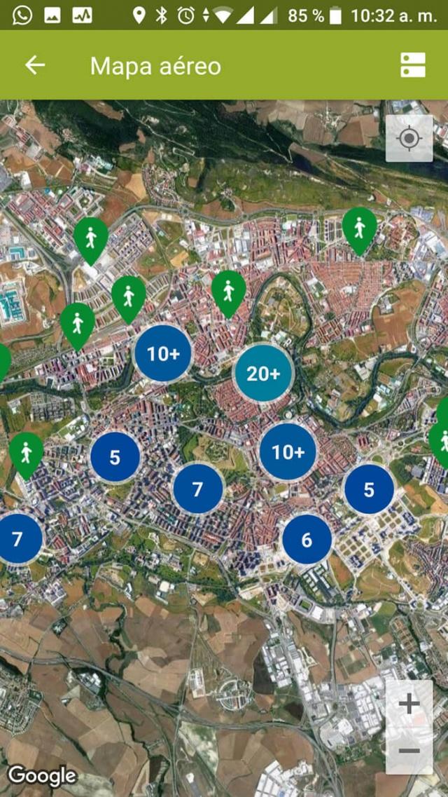 Mapa de la app de metrominuto