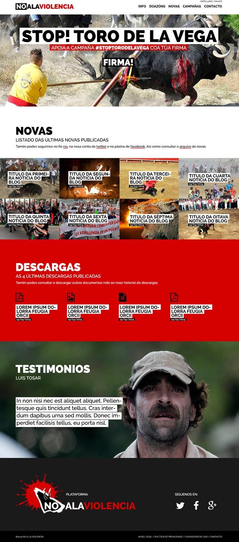 pagina de inicio de la web de no a la violencia