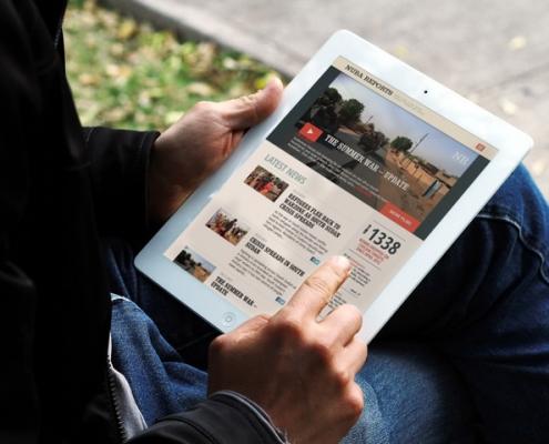 Miniatura de la Vista de la web de nuba reports en una tablet