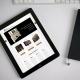 Miniatura de la web de organos navarra en una tablet