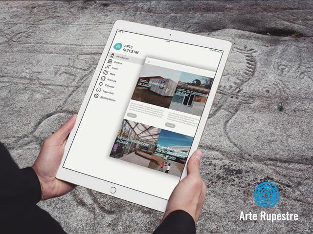 App Petra arte rupestre vista en tablet