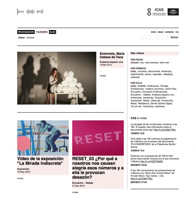 sección de la web de CAS