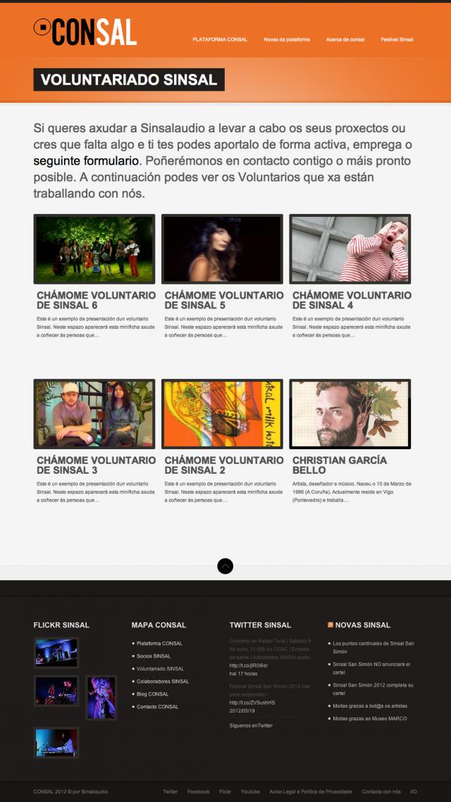 sección de la web de consal