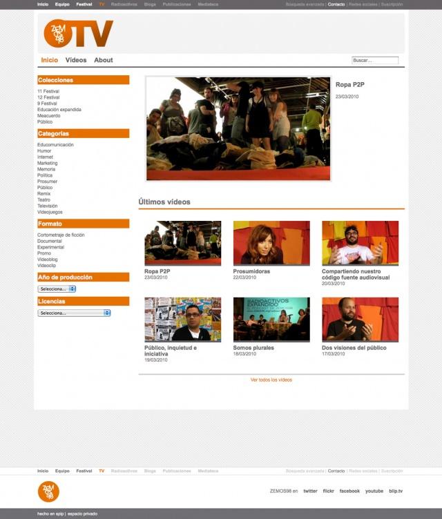 pagina de inicio de zemos 98