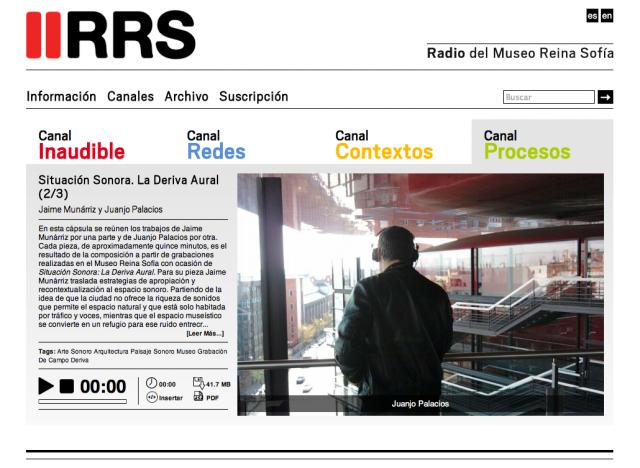 seccion de la radio del museo reina sofia