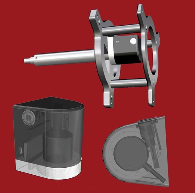 modelo 3d de maquina inercial