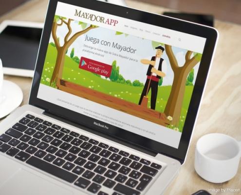 Miniatura de la vista de la web de Mayador app en un portatil
