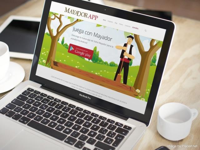 vista de la web de Mayador app en un portatil