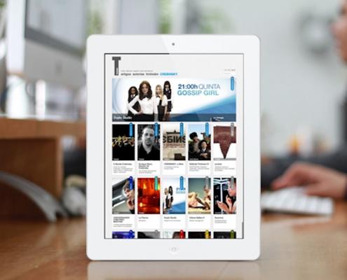 Miniatura del inicio de la web Tintiman en una tablet